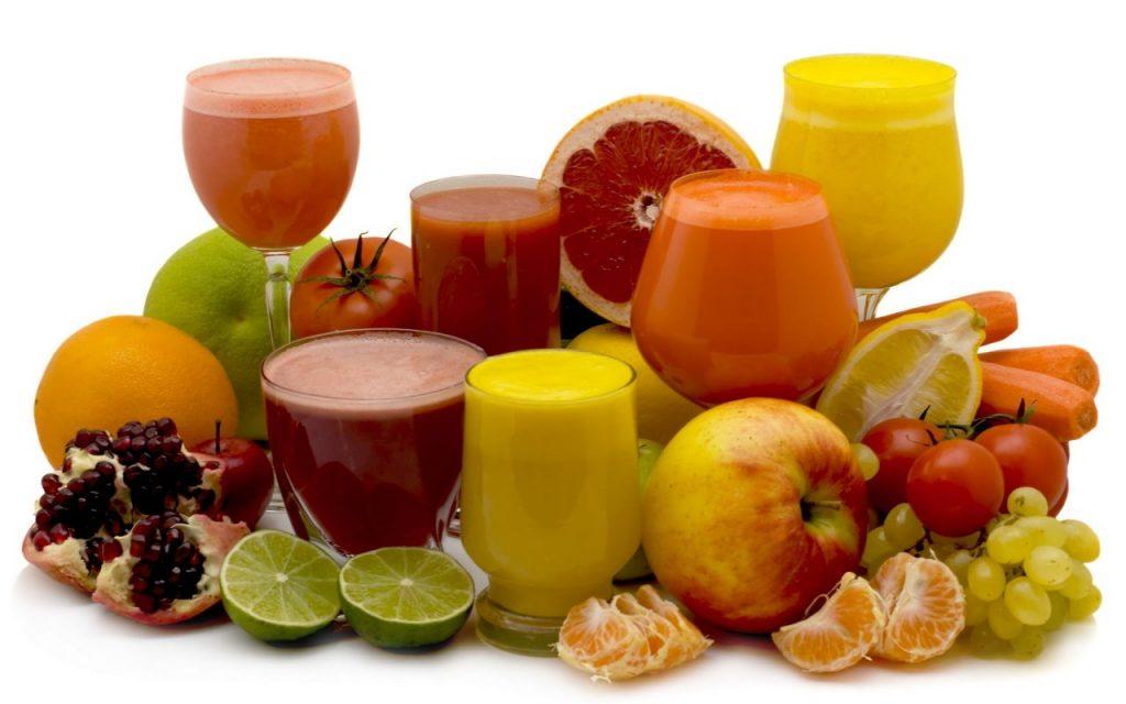 cilt lekelerini engellemek için meyve suyu için