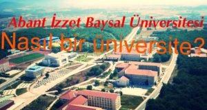 Abant İzzet Baysal Üniversitesi Nasıl Bir Üniversite?