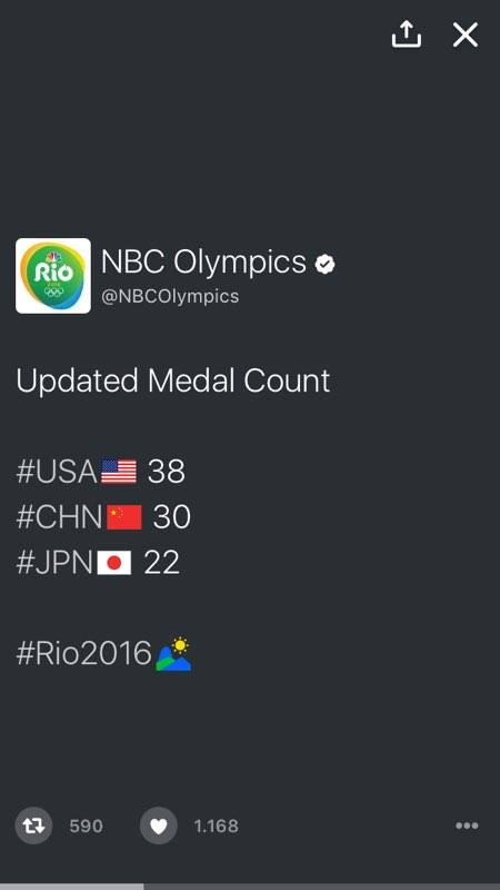 Twitter Moments olimpiyat madalya